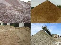 Песок, гравий( мытый), щебень, галька, чернозем, вывоз мусор