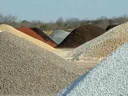 Песок ПГС гравий щебень чернозем камень асфальтная крошка