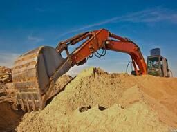 Песок сеяный (1,2 кл) доставка самосвалом 10,20,25,30т