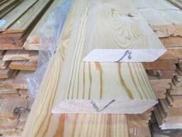 Планкен скошенный лиственница сиб. 18х85-135х2,0-6,0м сортАВ