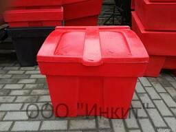 Пластиковый ящик для песка и соли 150 литров, красный