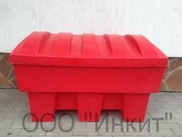Пластиковый ящик для песка и соли 250 литров, красный
