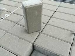 Плитка тротуарная 6-ка серая кирпичик