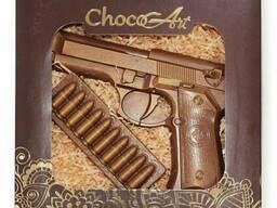 Подарок из шоколада ручной работы. Набор Беретта, 140 г
