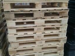 Поддон, паллет деревянный 110х110мм, б/у-1 раз.