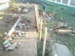 Поднять дом, Поднять деревянный дом, фундаментные работы