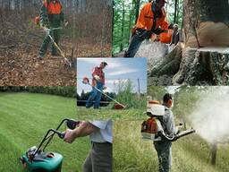 Покос травы и кустарников, спиливание деревьев гродно