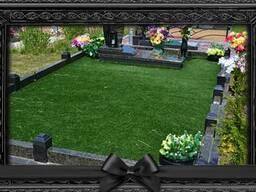 Покраска ограды на кладбище без предварительной зачистки и грунтовки