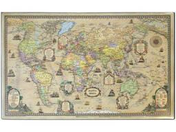 Покрытие настольное «Карта ретро» (380 х 590 мм)