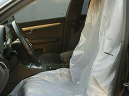 Полиэтиленовые чехлы для сидений белые (экстра), размер 79 х 130 см (12 мкрн), рулон 500 ш