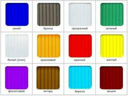 Поликарбонат 3-10мм (0,4-1,1кг/м2). Прозрачный и цветной!