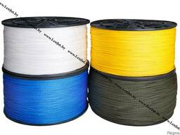 Полипропиленовый шнур 6мм. Вязано-плетеный. Катушка 500м.