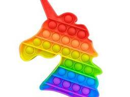Поп ит (Pop it) разноцветный Единорог