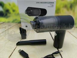 Портативный вакуумный мини пылесос для авто и дома 2 in 1 Vacuum Cleaner (2 насадки)