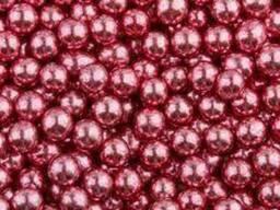Посыпка шарики Хром розовые 5 мм, 50 г
