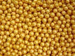 Посыпка шарики сахарные золотые 3 мм, 50 г