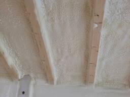 ППУ теплоизоляция напылением, Утепление фундамента, здания.