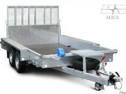 Прицеп MZSA 3.6х2м для транспортировки мини-спецтехники новы