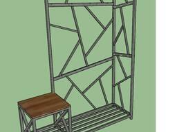 Прихожая Loft. 3D визуализация.