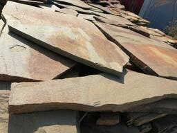 """Природный камень песчаник серо-коричневый """" Гречиха"""" 2 см."""