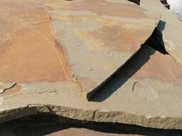 """Природный камень песчаник серо-коричневый """"Гречиха"""" 3 см."""
