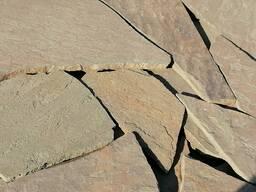 Природный камень песчаник серо-зеленый 2 см