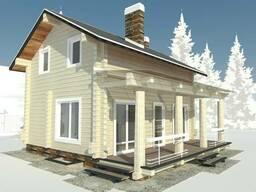 Проект дома из оцилиндрованного бруса, каркасный дом, расчет