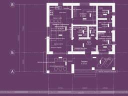 Проект гостевого дома (дача) с баней, заказать проект