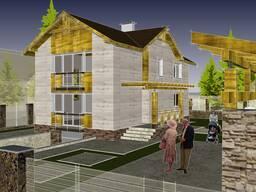 Проект реконструкции дачи, дома, бани, гаража