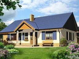 Проекты одноэтажных домов из газобетона, пеноблоков от 150р