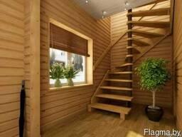 Произвожу лестницы из массива дуба и ясеня, под заказ