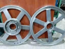 Проточка пильных шкивов (ремонт пилорамных колёс)