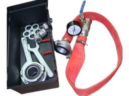 Проверка пожарных кранов и пожарных гидрантов на водоотдачу.