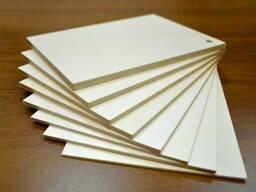 ПВХ (Поливинилхлорид) белый толщиной от 1 до 10 мм.