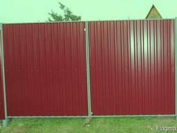 Распашные ворота для дачи с калиткой - фото 2