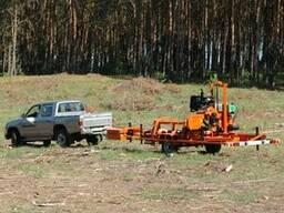 Распиловка леса с выездом к заказчику передвижной пилорамой