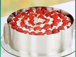 Раздвижное кольцо для торта (форма для выпечки) Cake Ring 16-30 см