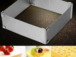 Разъемное кольцо для торта квадратное Scalable cake mould