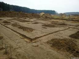 Разметка участка застройки, фундамента в Гомеле и области