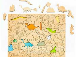 Развивающий эко-пазл раскраска «Динозавры»