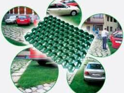 Решетка газонная пластиковая зеленая 630*430*38 мм