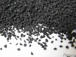 Резиновая черная крошка (SBR гранулят) от производителя.