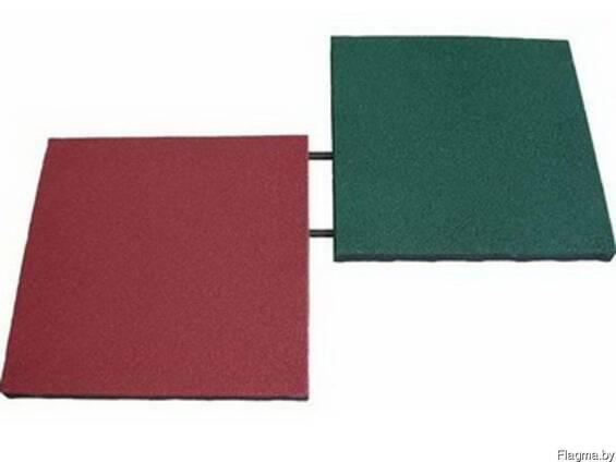 Резиновая плитка Ecover 500*500*40мм с гладким основанием