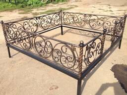 Ритуальные ограды из металла, кованые ограды в Полоцке