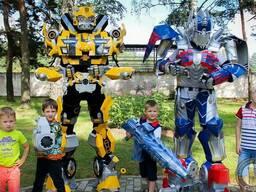 Роботы трансформеры на праздник.