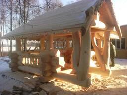 Дома бани и любые строения рубленные из дикого сруба