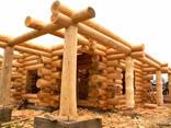 Изготовление домов бань из бревна оцилиндрованного и рубленн - фото 2