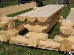 Садовая мебель, комплекты из бревна