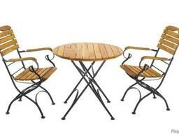 Садовая мебель (набор: круглый стол и 2 стула)