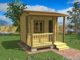 Садовый домик СД03 с террасой 3х3 метра